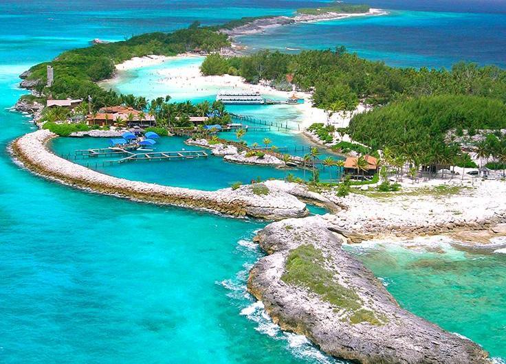 Isla Blue Lagoon: el lago azul de las Bahamas