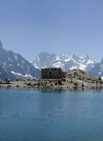 Le Lac Blanc en el valle de Chamonix, Francia