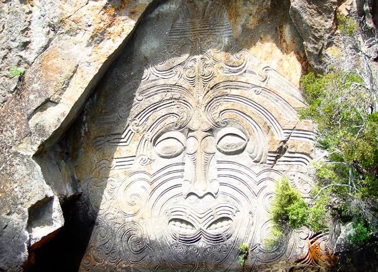 El lago Taupo y sus grabados maoríes. Nueva Zelanda