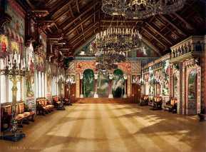 interior del castillo del rey loco