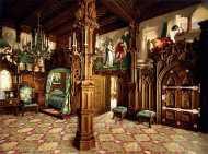 interior del castillo de neuschwanstein