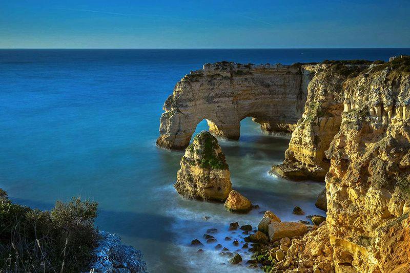 Marinha beach en el Algarve