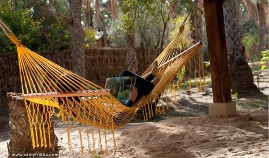 sieste sous les palmiers