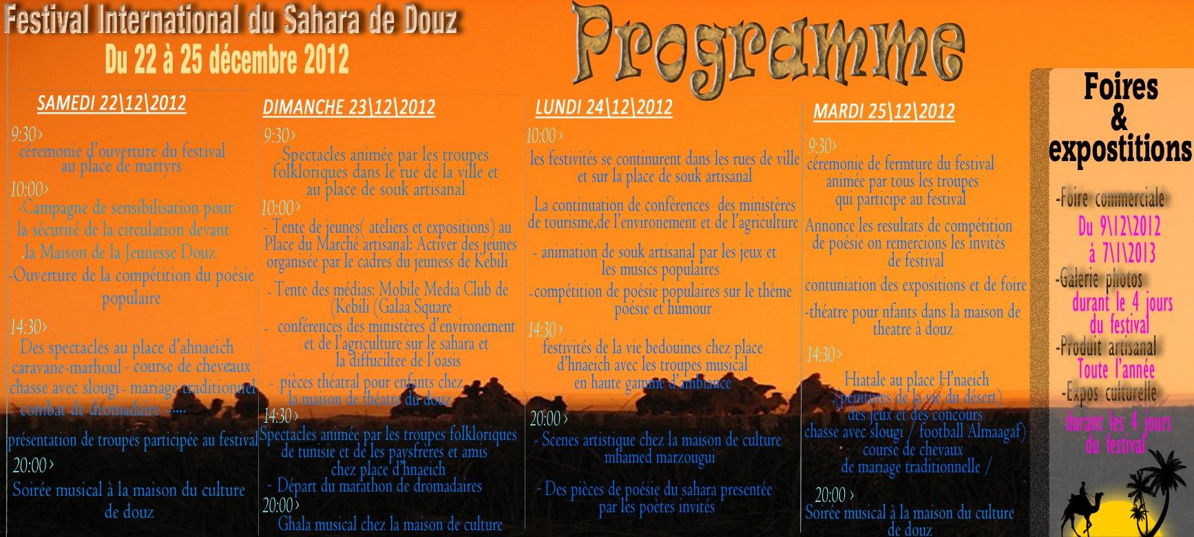 programme du festival de douz 2012