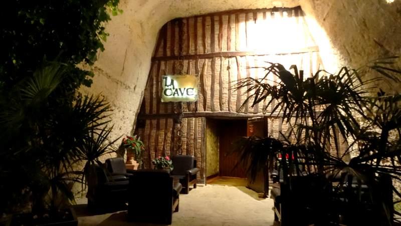 Un restaurant troglodyte : La cave à Montlouis-sur-Loire
