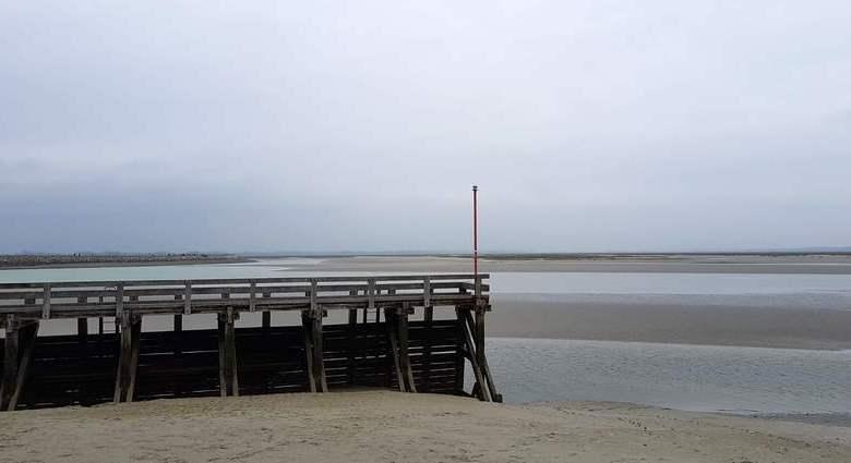 Baie de Somme : entre gris clair et gris foncé.
