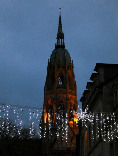 Bayeux centre ville illuminé