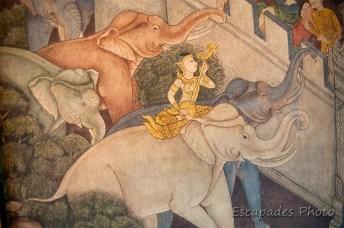 Fresques wat pho - éléphant blanc