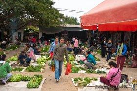Marché aux légumes -marché de luang namtha