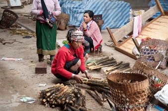 Marché Luang Namtha : Chez les Akhas