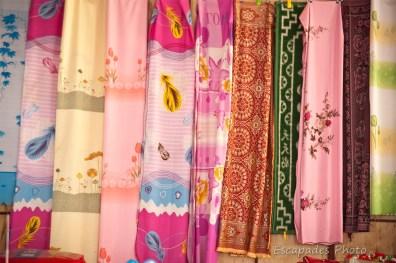 Tissus marché de luang namth- marché de luang namtha