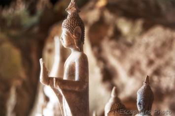 Pak Ou une belle statue de bouddha