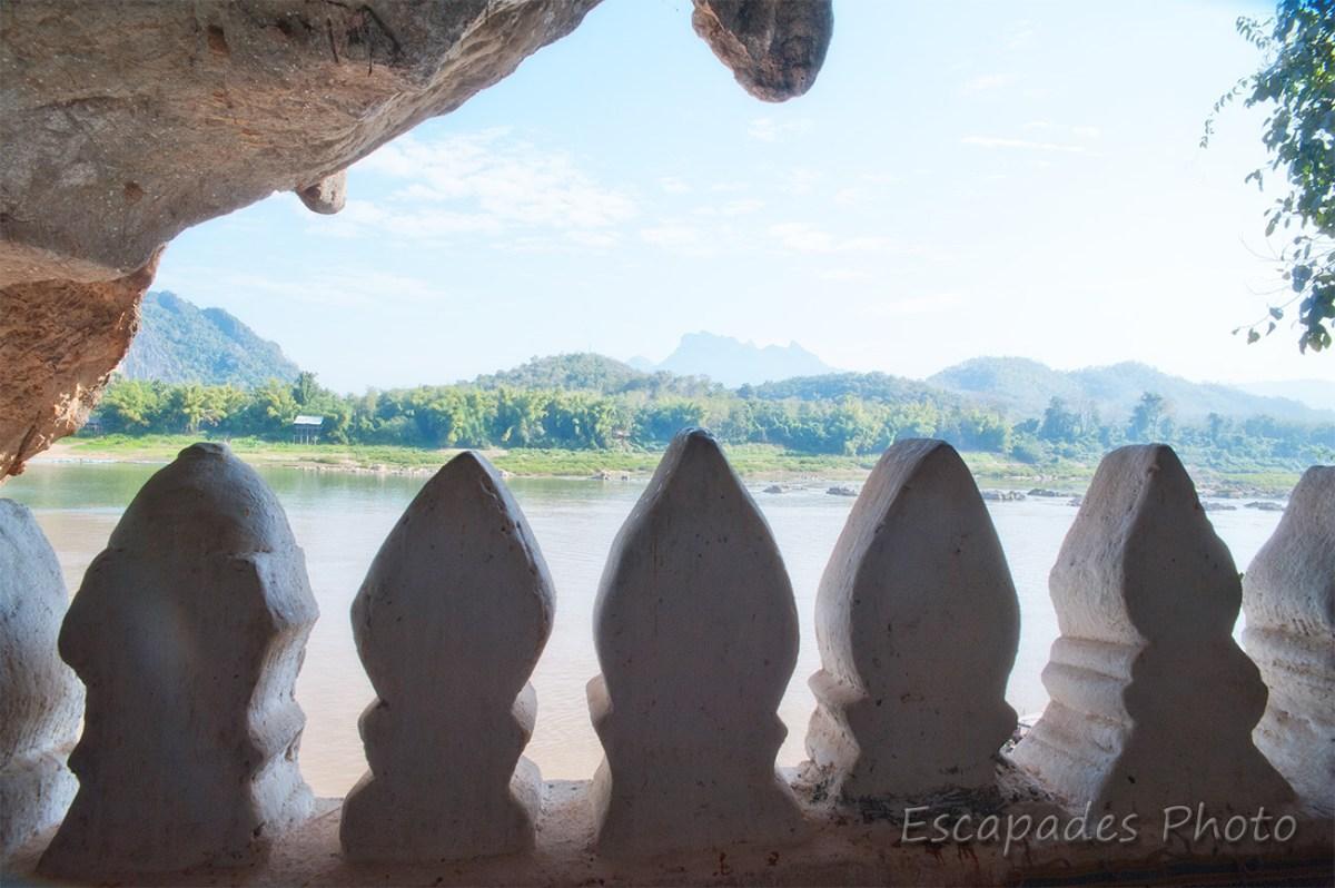 Pak Ou - le bras du Mekong vu de la grotte