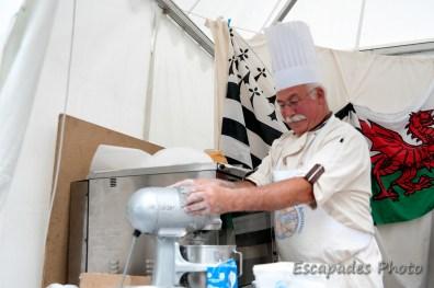 Kouign amann - pétrissage de la pâte à pain