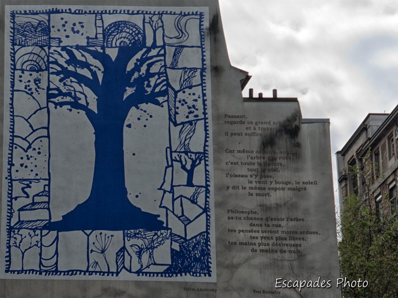 L'arbre des rues Yves Bonnefoy – Pierre Alechinsky