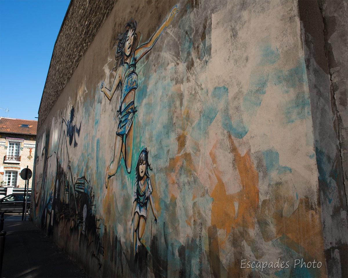 AliCè fresque rue neuve à Vitry sur Seine