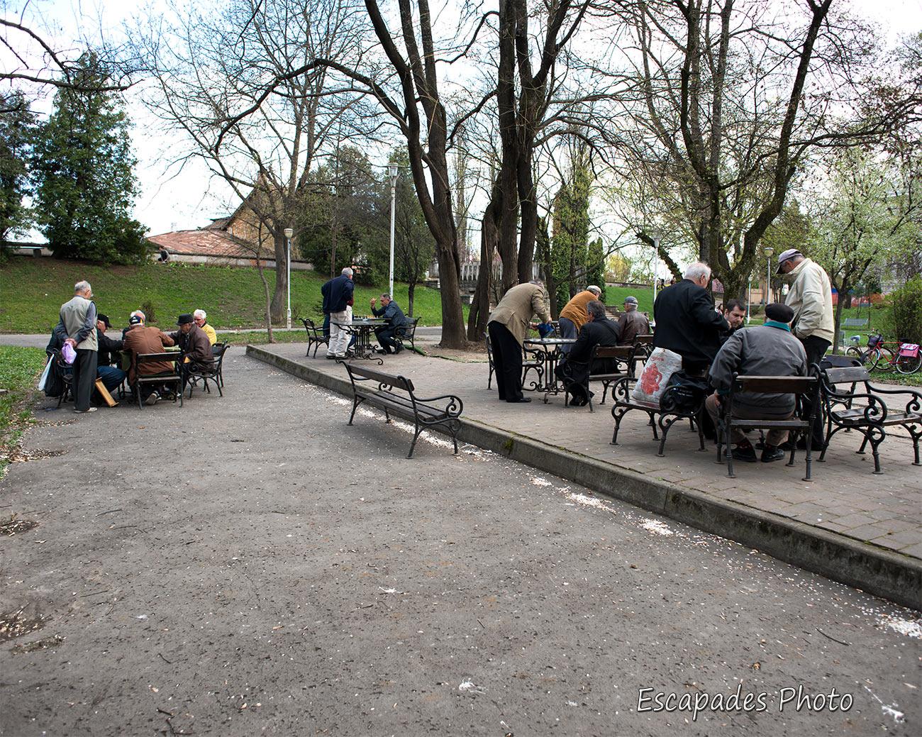 Joueurs d'échecs au Parcul Copiilor à Arad