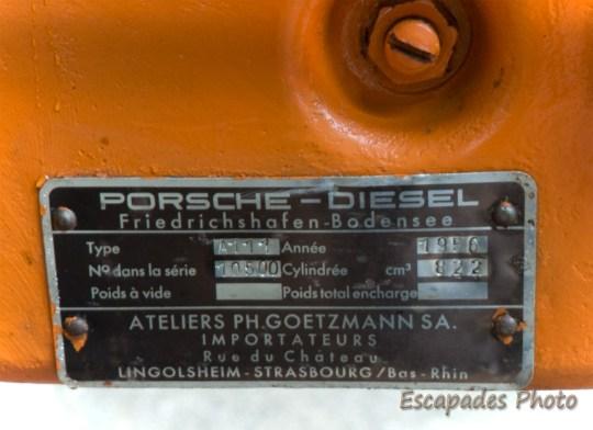 Allgaier Porsche - plaque signalétique - Pont-Scorff