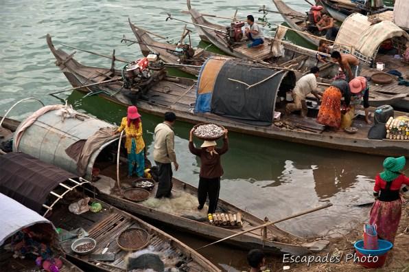 Kampong Cham : Retour de pêche