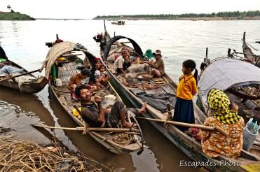 La vie des pêcheurs du Mékong
