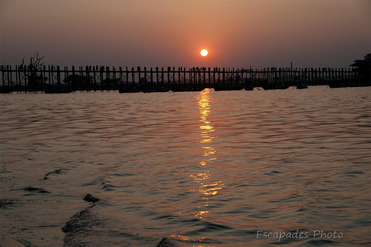 Pont d'Ubein - Coucher de soleil