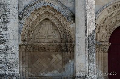 église saint-pierre aulnay - crucifixion de saint-pierre