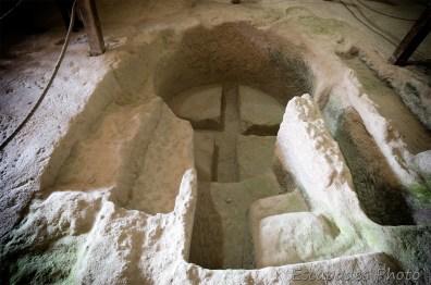 Saint-Jean-Baptiste d'Aubeterre - cuve baptismale