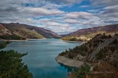 Lac du Castillon en perspective
