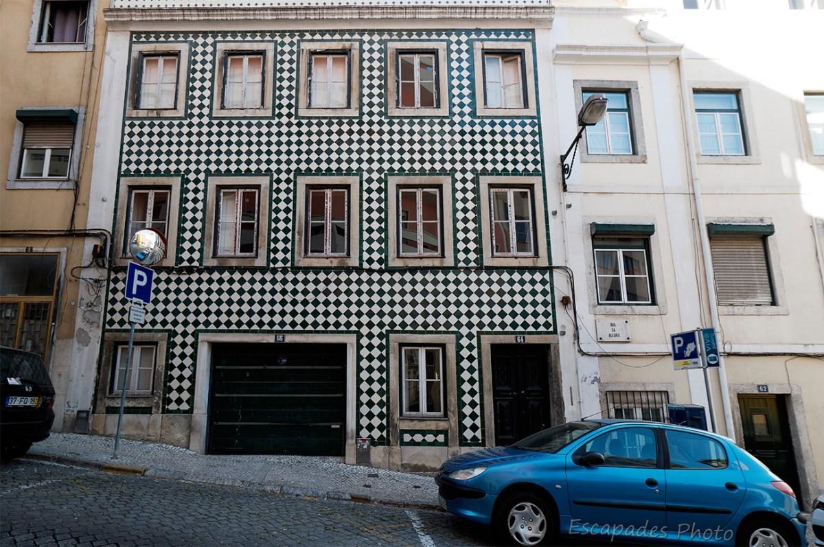 Azulejos rua da Alegria - Lisboa - Des azulejos rue de la Joie à Lisbonne