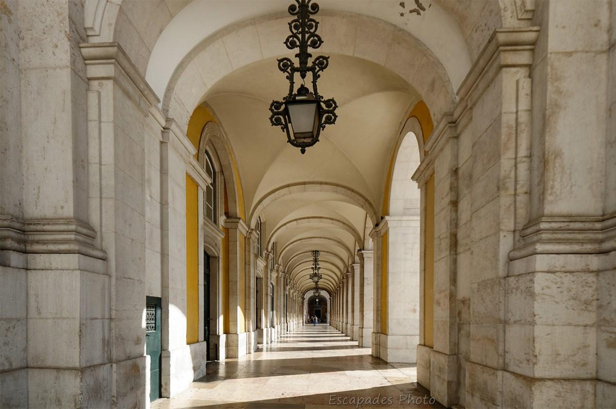Arcades - Praça do Comércio - place du commerce - Lisbonne