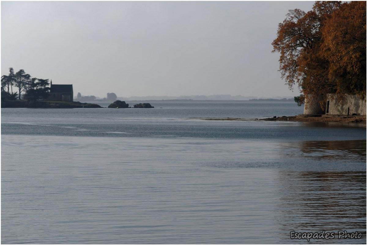 Le goulet , entre l'île Boëdic et Arradon