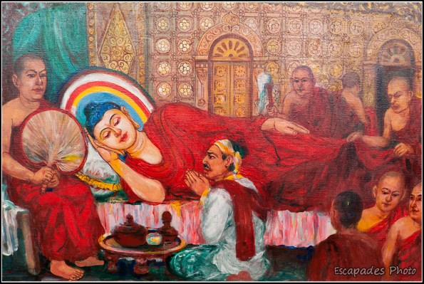 Iconographie bouddhiste à Sagaing