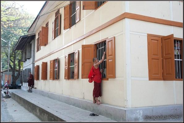 Cuisine aux moines à Amarapura