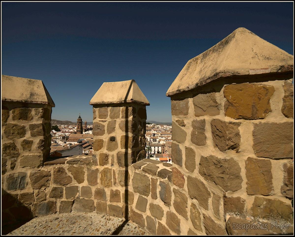 Mur crénelé de l'Alcazaba - Antequera