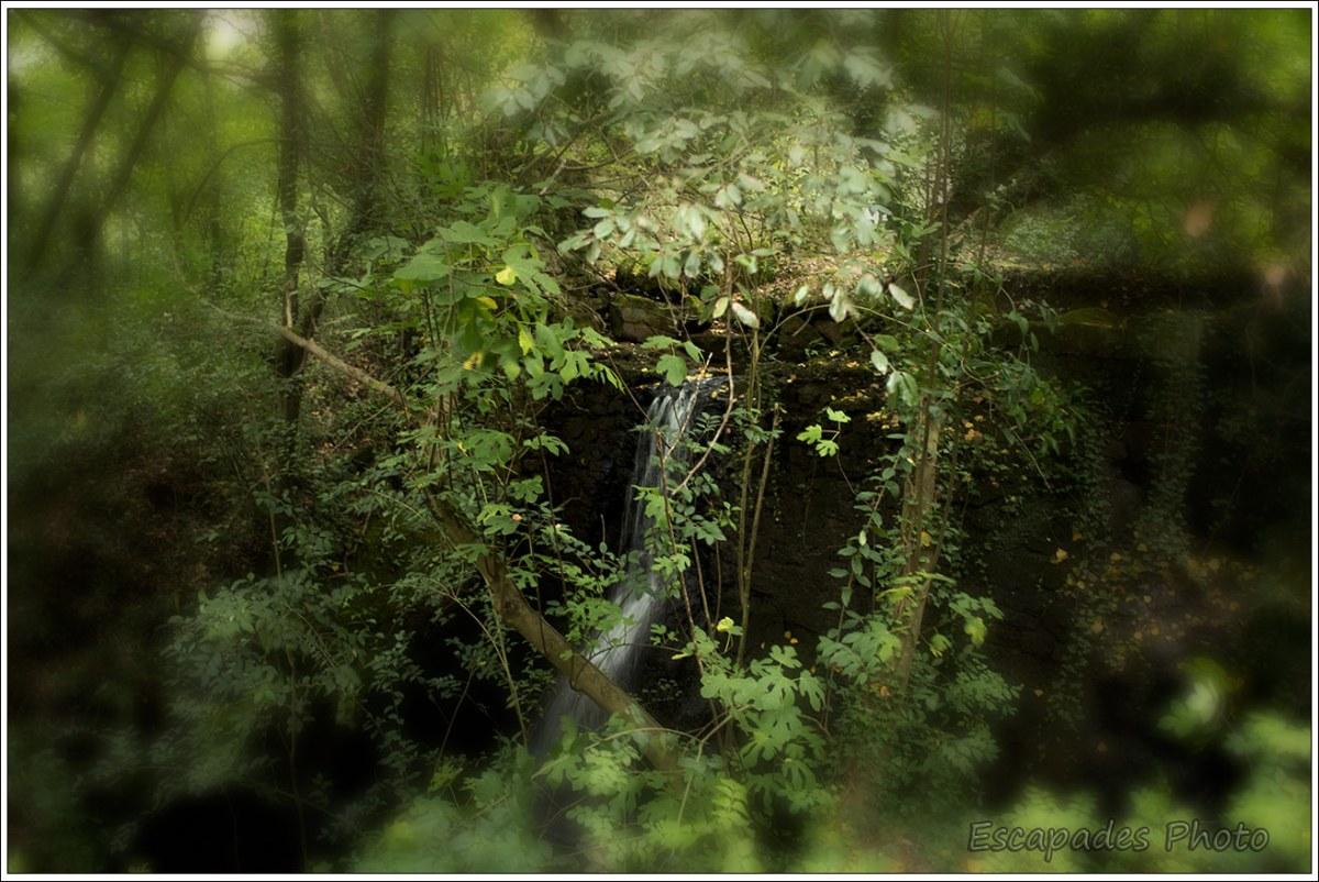 Jardins de Bormazo - Une cascade et la végétation