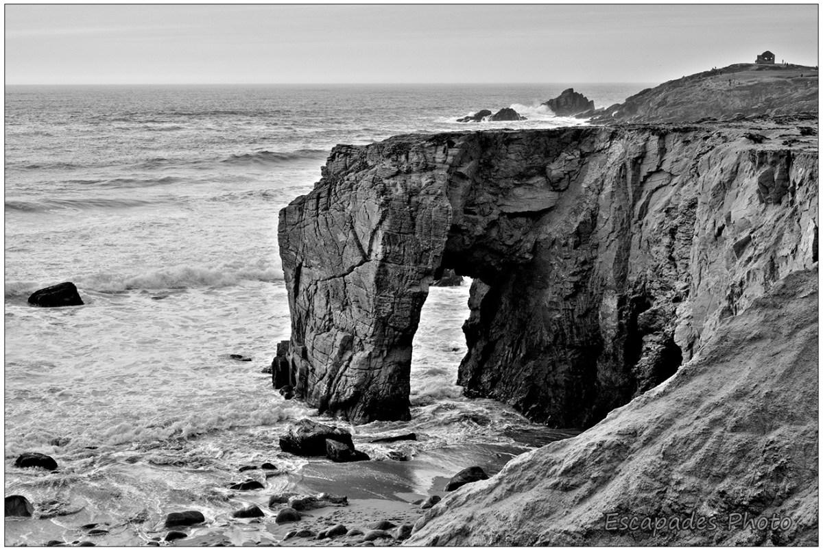 Arche et Pointe du Percho version noir et blanc