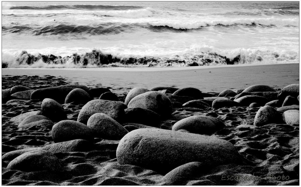 Anse de l'Arche de Port Blanc - les rochers aux formes arrondies