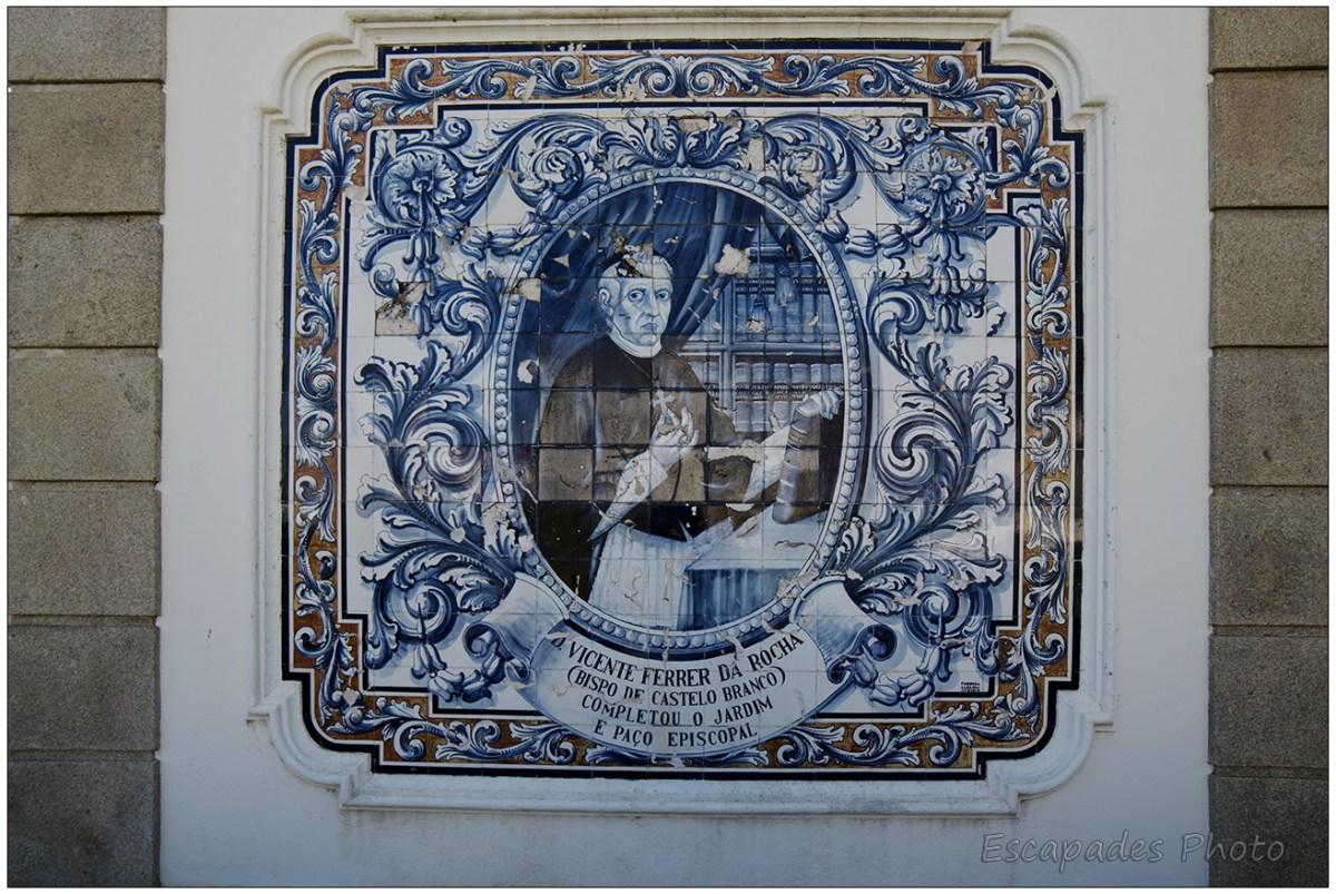 Vicente Ferrer Da Rocha  azulejos - Jardin épiscopal de Castelo Branco