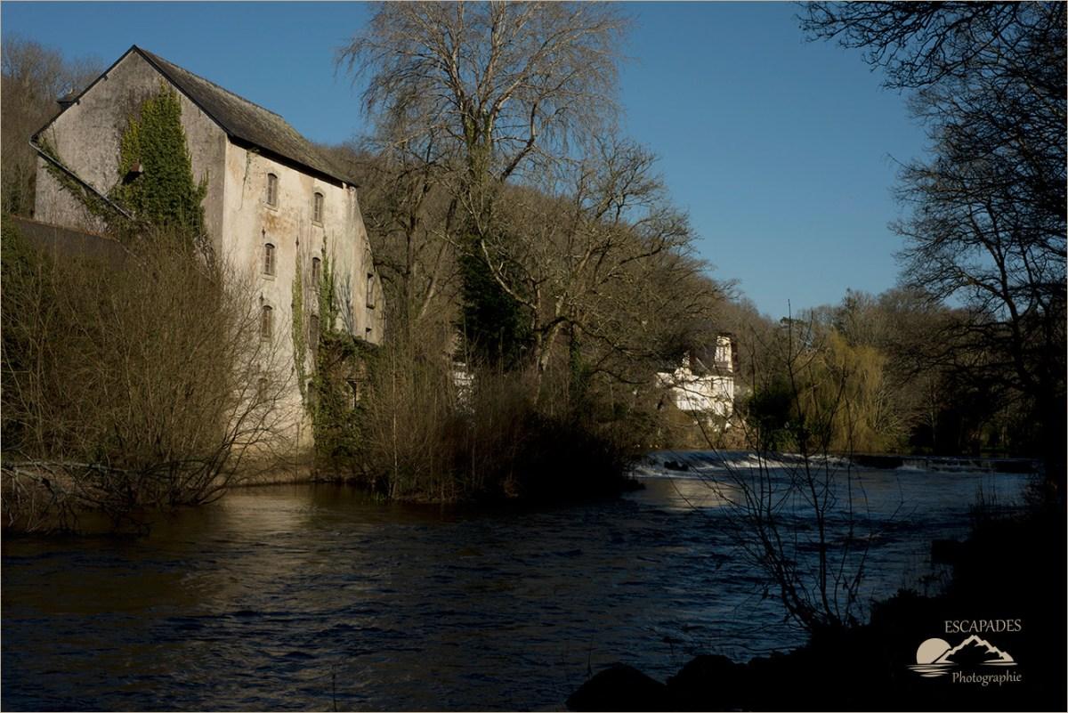 Moulin des Gorrets sur l'Ellé à Quimperlé