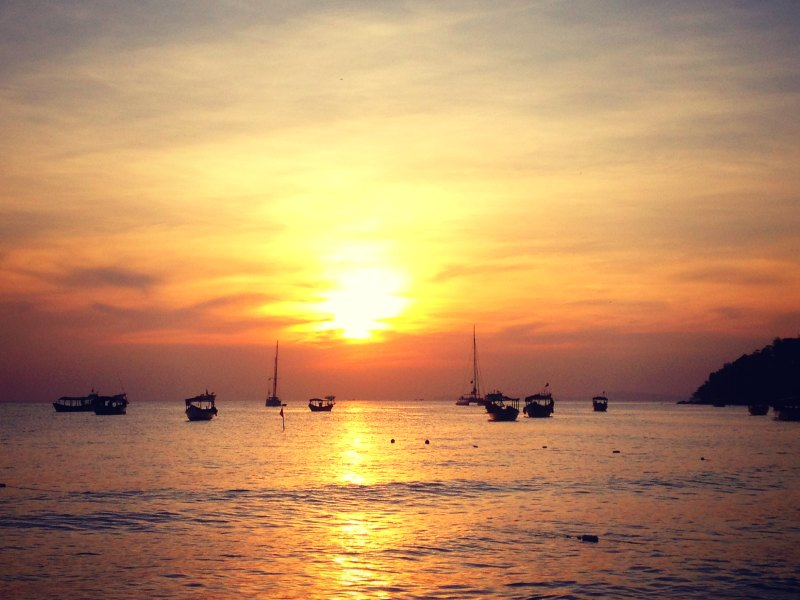 Sonnenuntergang in Sihanoukville