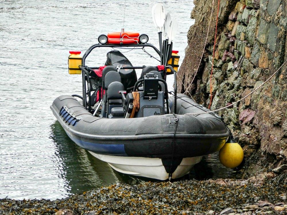 RIB Boot für Bootstouren in der Bay of Kenmare