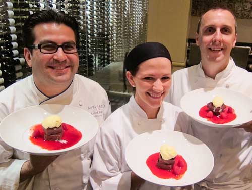 Chefs Andre Natera, Sarah Snow, Paul Peddle
