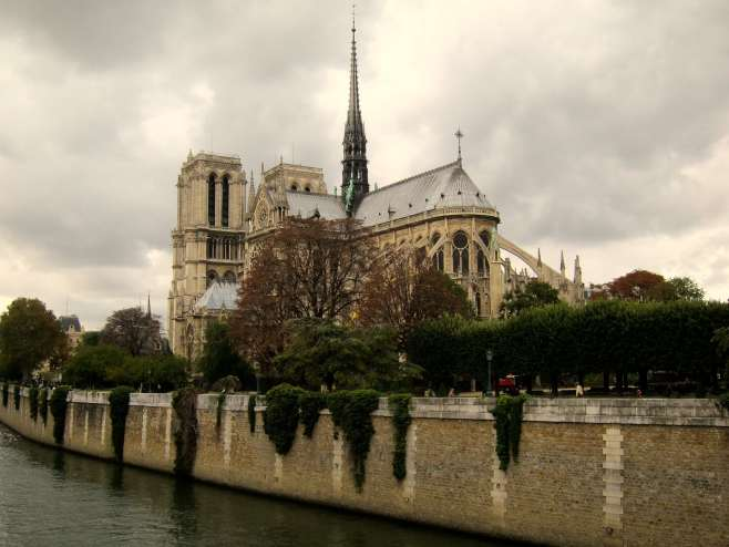 Notre Dame, photographed from the real Left Bank two weeks ago