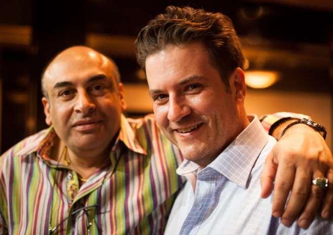 Nosh owner Avner Samuel with chef Andrew Bell