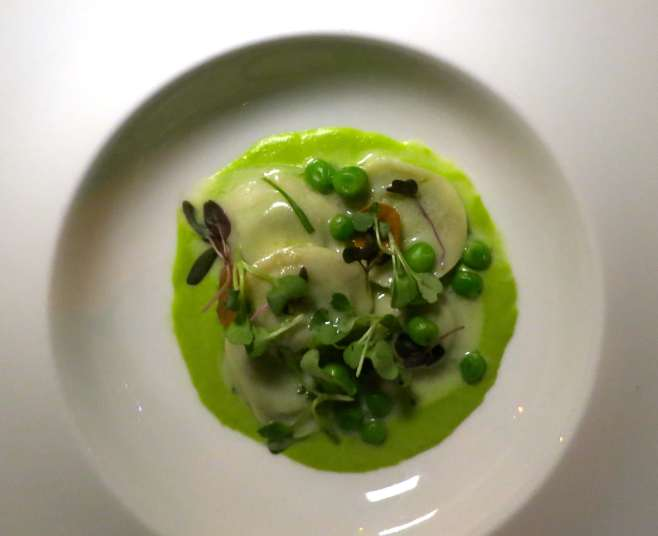 this shelled pea ravioli tastes like spring itself