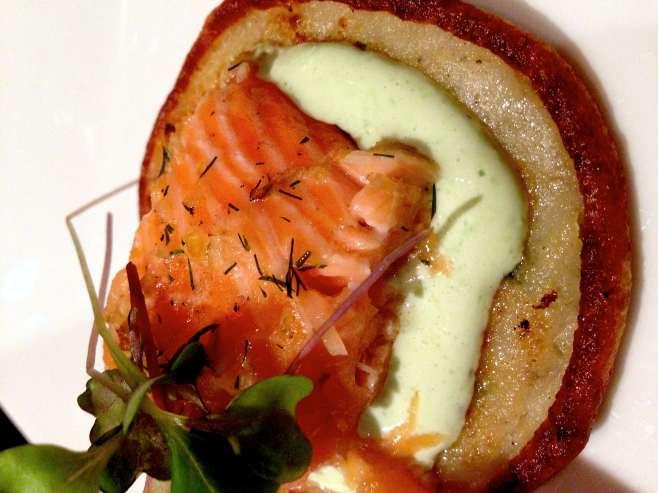 Brau Haus' salmon appetizer