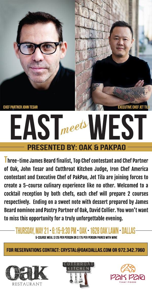 East Meets West Dinner