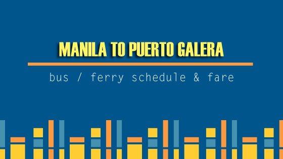 Manila to Puerto Galera bus schedule