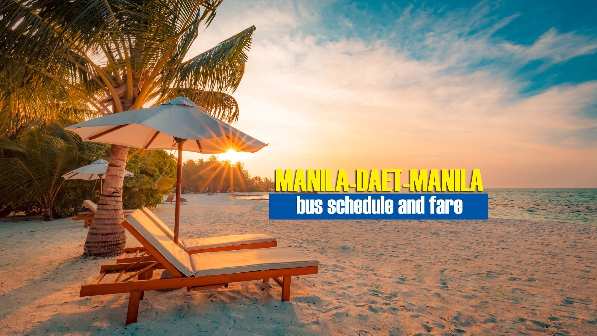 Manila to Daet: 2019 Bus Schedule and Fare