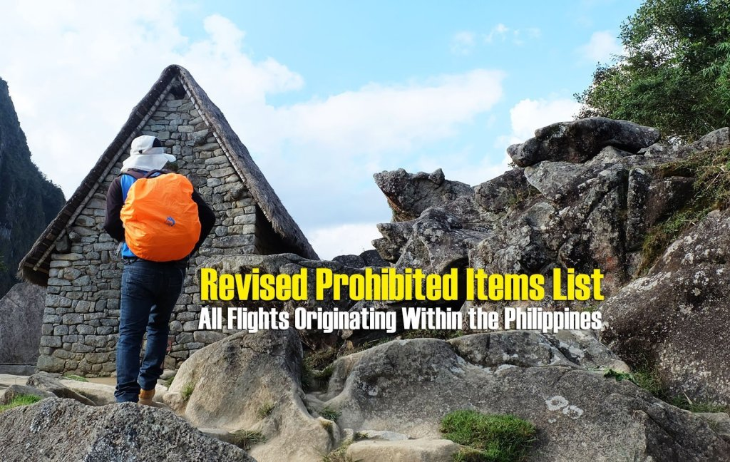 Revised Prohibited Items List for All Flights Originating Within the Philippines